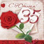 35 лет девушке открытка скачать бесплатно на сайте otkrytkivsem.ru