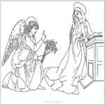 Благовещение Пресвятой Богородицы раскраска для детей скачать бесплатно на сайте otkrytkivsem.ru