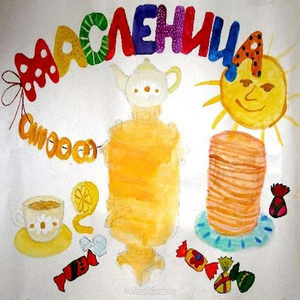 detskly risunok na temu maslenitsa