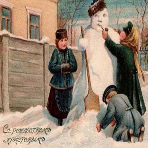 dorevolyutsionnaya rozhdestvenskaya otkrytka