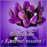 Электронная открытка на 8 марта коллегам скачать бесплатно на сайте otkrytkivsem.ru