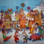 Картинка на тему колядки скачать бесплатно на сайте otkrytkivsem.ru