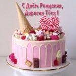 Красивая открытка с днём рождения тёте скачать бесплатно на сайте otkrytkivsem.ru