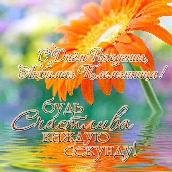 Красивое поздравление с днем рождения племяннице открытка скачать бесплатно на сайте otkrytkivsem.ru