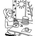 Масленица рисунок раскраска скачать бесплатно на сайте otkrytkivsem.ru
