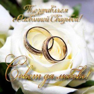 olovyannaya svadba otkrytka