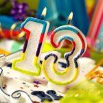 Открытка 13 лет день рождения скачать бесплатно на сайте otkrytkivsem.ru