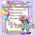 Открытка 16 лет мальчику скачать бесплатно на сайте otkrytkivsem.ru