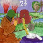 Открытка 23 февраля рисунок детей скачать бесплатно на сайте otkrytkivsem.ru
