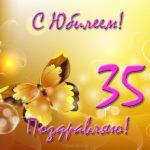 Открытка 35 лет юбилей скачать бесплатно на сайте otkrytkivsem.ru