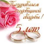 Открытка 5 лет свадьбы скачать бесплатно на сайте otkrytkivsem.ru
