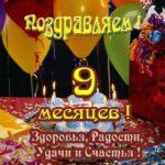 Открытка бесплатная с 9 месяцами мальчика скачать бесплатно на сайте otkrytkivsem.ru