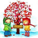 Открытка к дню Святого Валентина скачать скачать бесплатно на сайте otkrytkivsem.ru
