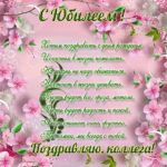 Открытка коллеге на юбилей скачать бесплатно на сайте otkrytkivsem.ru