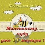 Открытка на 11 месяцев девочке скачать бесплатно на сайте otkrytkivsem.ru