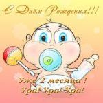 Открытка на 2 месяца скачать бесплатно на сайте otkrytkivsem.ru