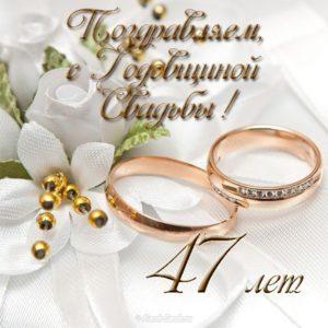 Открытка на 47 лет свадьбы скачать бесплатно на сайте otkrytkivsem.ru