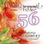 Открытка на 56 лет скачать бесплатно на сайте otkrytkivsem.ru