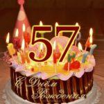Открытка на 57 лет скачать бесплатно на сайте otkrytkivsem.ru