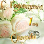 Открытка на первую годовщину свадьбы скачать бесплатно на сайте otkrytkivsem.ru