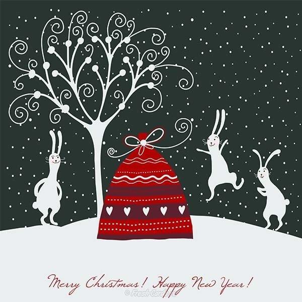 новогодние открытки стильные современные добрым утром, дорогая