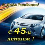 Открытка поздравительная на 45 лет скачать бесплатно на сайте otkrytkivsem.ru