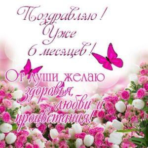 Открытка поздравление с 6 месяцами мальчику скачать бесплатно на сайте otkrytkivsem.ru