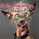 Открытка прикольная с днем рождения Леха скачать бесплатно на сайте otkrytkivsem.ru