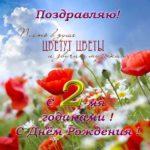 Открытка с 2 годиками девочке скачать бесплатно на сайте otkrytkivsem.ru