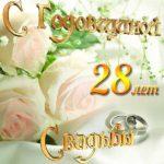 Открытка с 28 летием свадьбы скачать бесплатно на сайте otkrytkivsem.ru