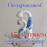 Открытка с 45 летием совместной жизни скачать бесплатно на сайте otkrytkivsem.ru
