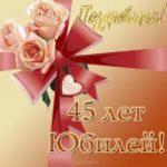 Открытка с 45 летием женщине коллеге скачать бесплатно на сайте otkrytkivsem.ru