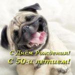 Открытка с 50 летием мужчине прикольная скачать бесплатно на сайте otkrytkivsem.ru