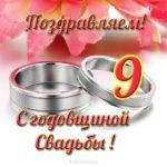 Открытка с 9 годовщиной свадьбы скачать бесплатно на сайте otkrytkivsem.ru