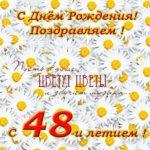 Открытка с днем рождения 48 лет скачать бесплатно на сайте otkrytkivsem.ru