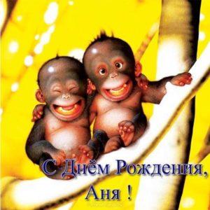 Открытка с днем рождения для Анны прикольная скачать бесплатно на сайте otkrytkivsem.ru