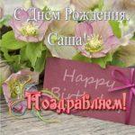 Открытка с днем рождения для Саши скачать бесплатно на сайте otkrytkivsem.ru