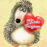 Открытка с днем рождения ежик скачать бесплатно на сайте otkrytkivsem.ru