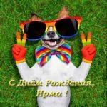 Открытка с днем рождения Ирма скачать бесплатно на сайте otkrytkivsem.ru
