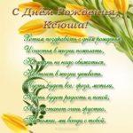 Открытка с днем рождения Ксюша стихи скачать бесплатно на сайте otkrytkivsem.ru
