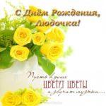 Открытка с днем рождения Людочка скачать бесплатно на сайте otkrytkivsem.ru