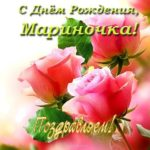 Открытка с днем рождения Мариночка скачать бесплатно на сайте otkrytkivsem.ru