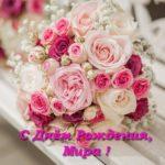 Открытка с днем рождения Мира скачать бесплатно на сайте otkrytkivsem.ru