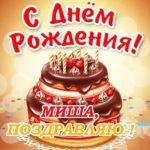 Открытка с днем рождения Миша скачать бесплатно на сайте otkrytkivsem.ru