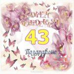 Открытка с днем рождения на 43 года скачать бесплатно на сайте otkrytkivsem.ru