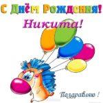 Открытка с днем рождения Никита прикольная скачать бесплатно на сайте otkrytkivsem.ru