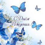 Открытка с днем рождения с бабочками скачать бесплатно на сайте otkrytkivsem.ru