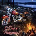 Открытка с днем рождения с мотоциклами скачать бесплатно на сайте otkrytkivsem.ru