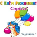 Открытка с днем рождения Серёга прикольная скачать бесплатно на сайте otkrytkivsem.ru