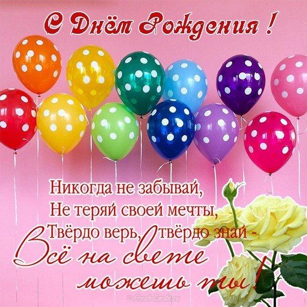 Открытка с днем рождения шары скачать бесплатно на сайте otkrytkivsem.ru